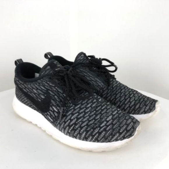 81b97f492392 ... coupon for nike flyknit roshe run one wolf grey black running 05b5c  4907f